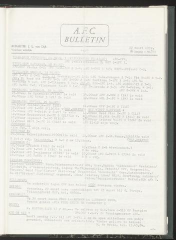 Bulletins (vnl. opstellingen) 1972-03-22