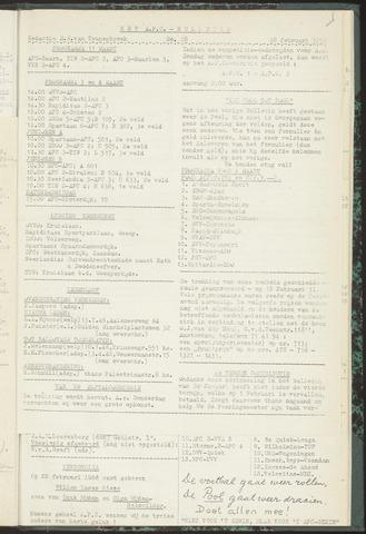 Bulletins (vnl. opstellingen) 1956-02-28