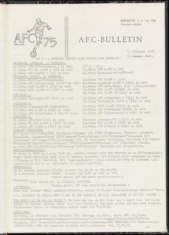 Bulletins (vnl. opstellingen) 1970-02-11
