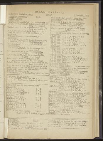 Bulletins (vnl. opstellingen) 1947-10-02