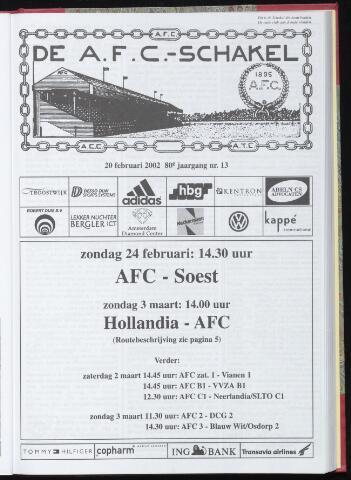 Schakels (clubbladen) 2002-02-20
