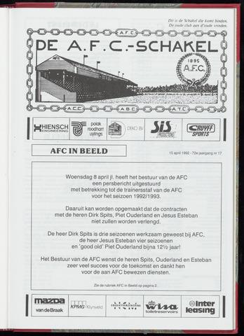 Schakels (clubbladen) 1992-04-15