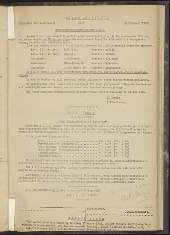 Bulletins (vnl. opstellingen) 1947-02-20