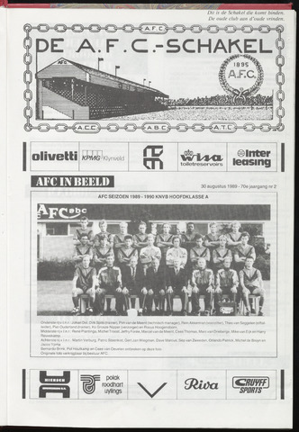Schakels (clubbladen) 1989-08-30