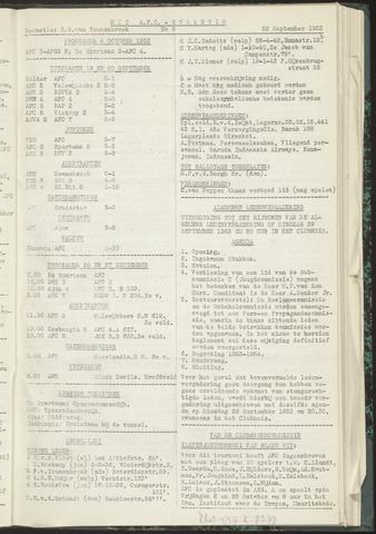 Bulletins (vnl. opstellingen) 1953-09-22