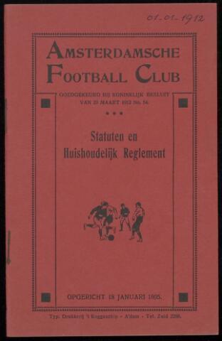 Statuten en reglementen 1912-01-01