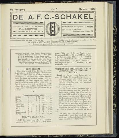 Schakels (clubbladen) 1929-10-01