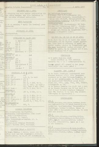 Bulletins (vnl. opstellingen) 1958-04-01
