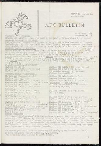 Bulletins (vnl. opstellingen) 1969-11-26