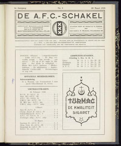 Schakels (clubbladen) 1928-03-30