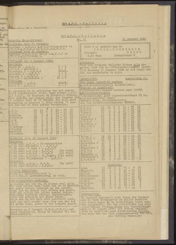 Bulletins (vnl. opstellingen) 1949-01-13