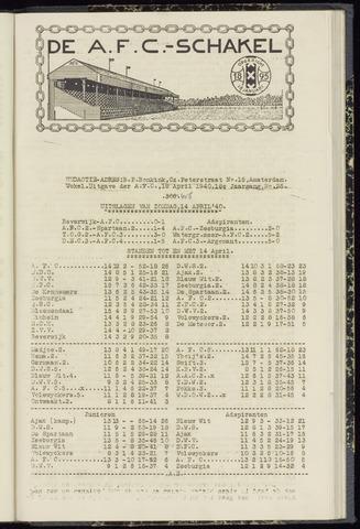 Schakels (clubbladen) 1940-04-18