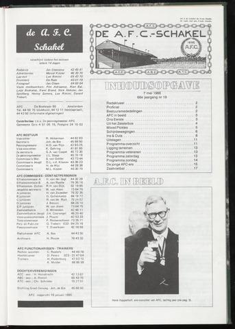 Schakels (clubbladen) 1986-05-07