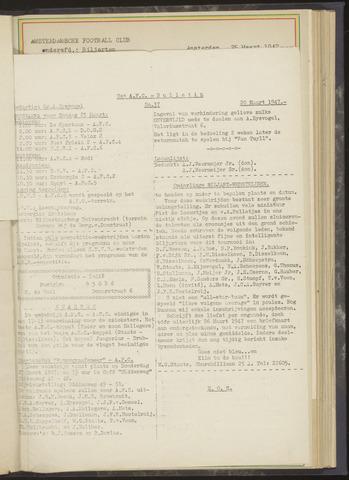 Bulletins (vnl. opstellingen) 1947-03-20