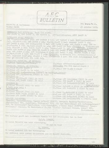 Bulletins (vnl. opstellingen) 1972-10-25