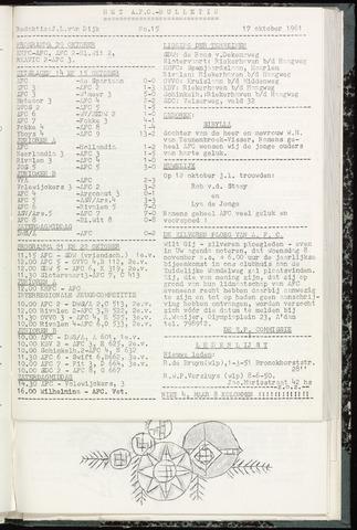Bulletins (vnl. opstellingen) 1961-10-17