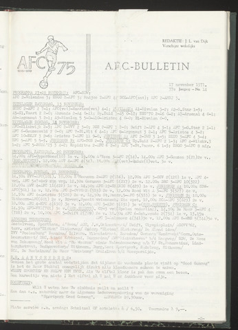 Bulletins (vnl. opstellingen) 1971-11-17