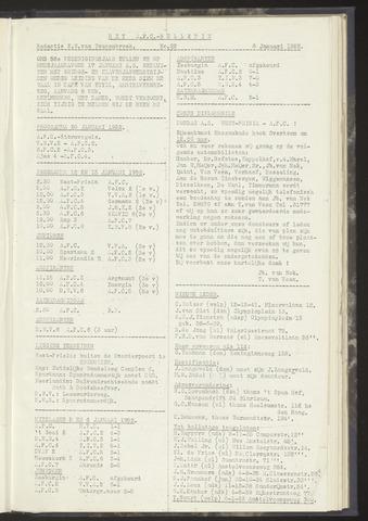 Bulletins (vnl. opstellingen) 1952-01-08