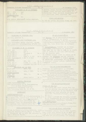Bulletins (vnl. opstellingen) 1954-11-09