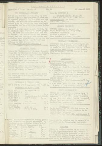 Bulletins (vnl. opstellingen) 1955-01-25