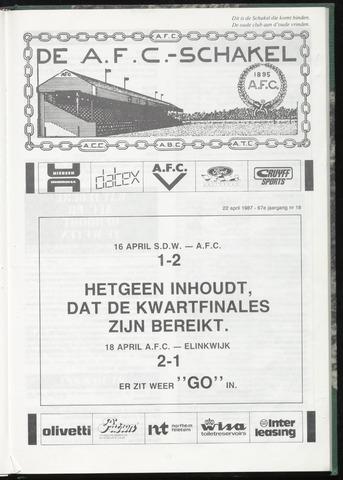 Schakels (clubbladen) 1987-04-22