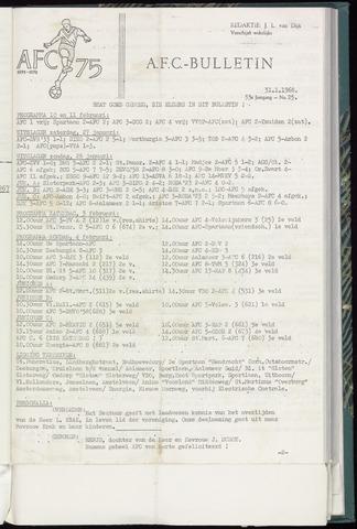 Bulletins (vnl. opstellingen) 1968-01-31