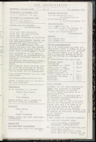 Bulletins (vnl. opstellingen) 1961-08-22