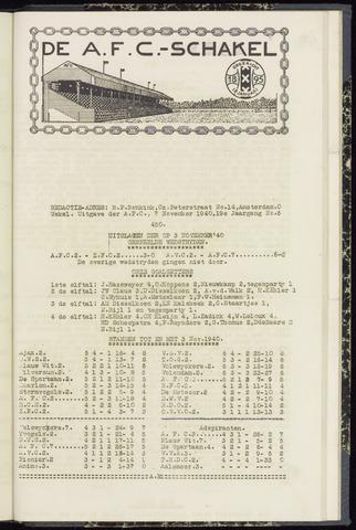Schakels (clubbladen) 1940-11-07