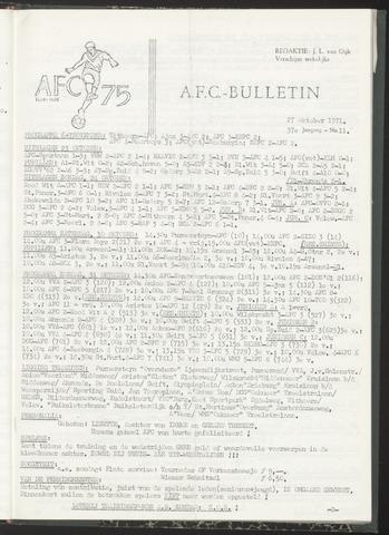 Bulletins (vnl. opstellingen) 1971-10-27