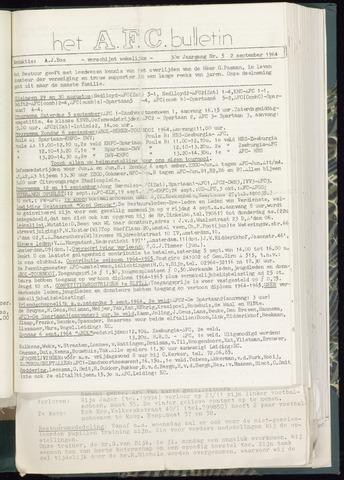 Bulletins (vnl. opstellingen) 1964-09-02