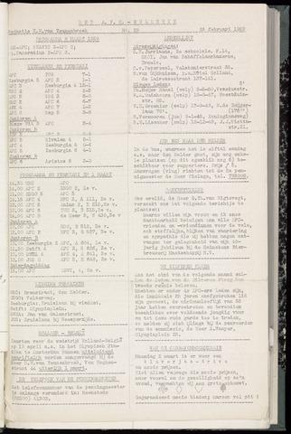 Bulletins (vnl. opstellingen) 1959-02-25