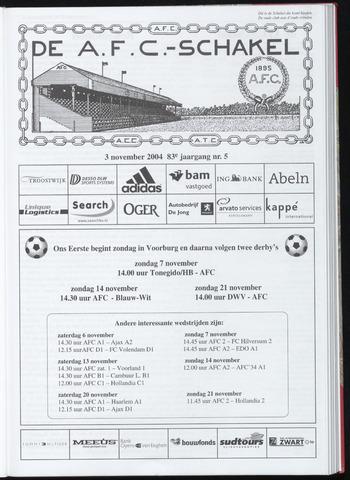 Schakels (clubbladen) 2004-11-03