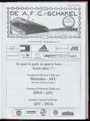 Schakels (clubbladen) 2001-02-14