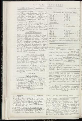 Bulletins (vnl. opstellingen) 1960-12-27