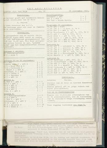 Bulletins (vnl. opstellingen) 1963-09-18