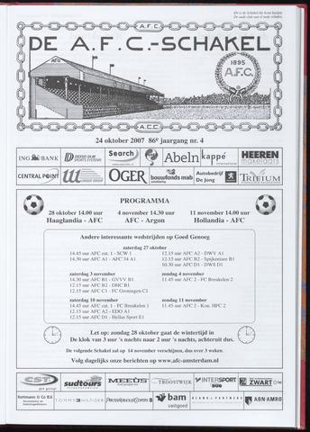 Schakels (clubbladen) 2007-10-24