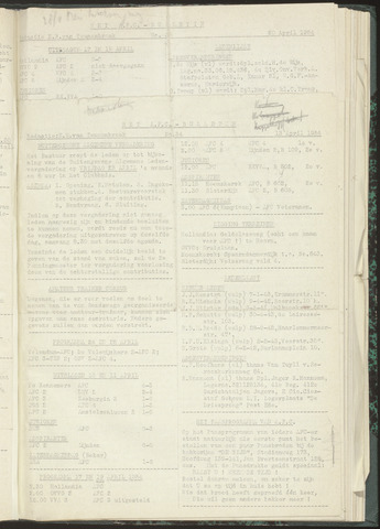 Bulletins (vnl. opstellingen) 1954-04-13