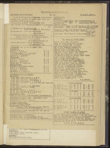 Bulletins (vnl. opstellingen) 1947-04-24