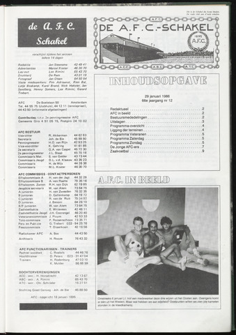 Schakels (clubbladen) 1986-01-29