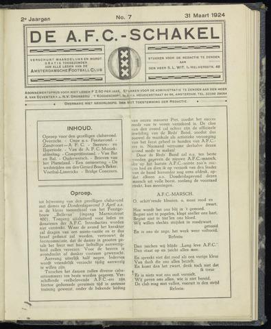 Schakels (clubbladen) 1924-03-31