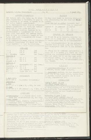 Bulletins (vnl. opstellingen) 1958-06-10