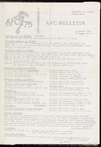Bulletins (vnl. opstellingen) 1969-10-15