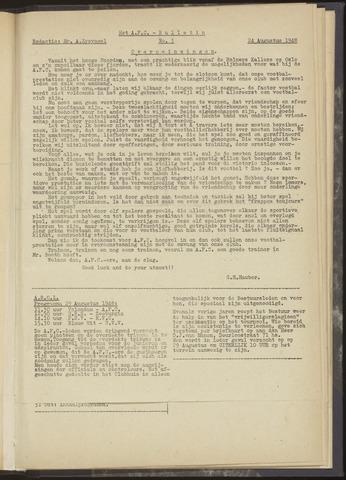 Bulletins (vnl. opstellingen) 1948-08-24