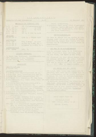Bulletins (vnl. opstellingen) 1954-01-28