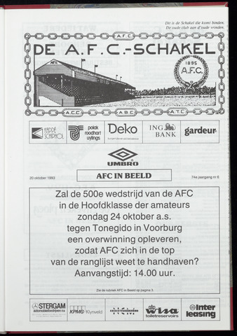 Schakels (clubbladen) 1993-10-20
