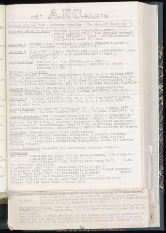 Bulletins (vnl. opstellingen) 1964-04-01