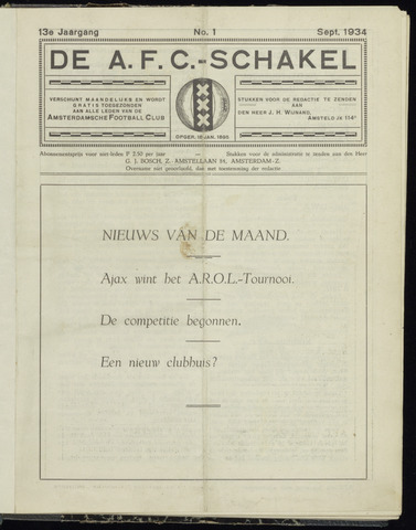 Schakels (clubbladen) 1934-09-01