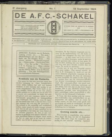 Schakels (clubbladen) 1924-09-19