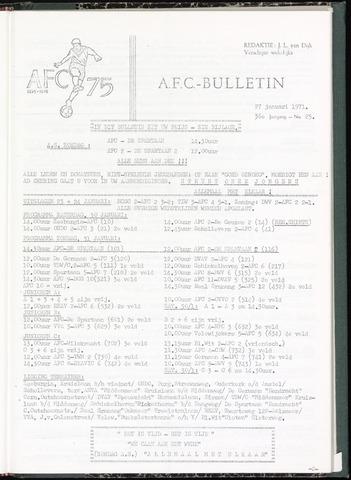 Bulletins (vnl. opstellingen) 1971-01-27