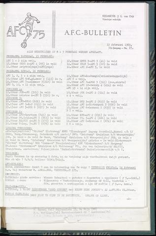 Bulletins (vnl. opstellingen) 1969-02-12